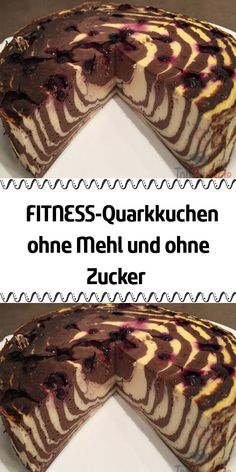 FITNESS-Quarkkuchen ohne Mehl und ohne Zucker Super looking quark cake without flour and sugar. Simply add fruit and a delicious dessert is in the world. Banana Dessert Recipes, Quick Dessert Recipes, Easy Cookie Recipes, Appetizer Recipes, Cake Recipes, Quark Recipes, Potato Recipes, Keto Recipes, Breakfast Recipes
