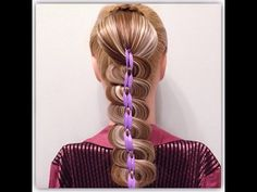 Zigzag ribbon braid | Коса - зигзаг с лентами - YouTube