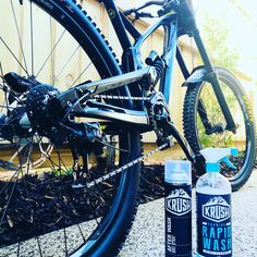 Clean as thanks to Krush Bike Wash. link to there products on our website. recklessraceconceots.com.au