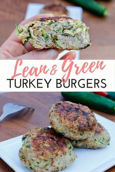 Burger loaded with shredded veggies with a punch of flavor! These burgers use shredded veggies to make these ginormous burgers lean, low-fat, and TASTY! Ground Turkey Burgers, Grilled Turkey Burgers, Greek Turkey Burgers, Turkey Burger Recipes, Ground Turkey Recipes, Healthy Turkey Burgers, Salmon Burgers, Lean Protein Meals, Lean Meals