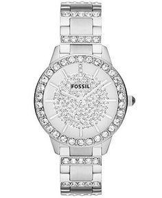 Fossil Watch, Women's Jesse Crystal Stainless Steel