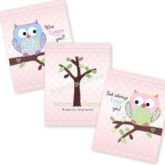 """Wall Art for girls room #owl   there should be a """"love"""" button"""