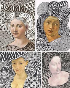 collage pinturas retratos - Buscar con Google