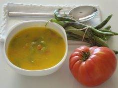 Sopa de Feijão Verde com Tomate