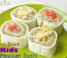 15 Bean Kids Mexican Sushi | Healthy Ideas for Kids #plantbasedprotein #healthykids
