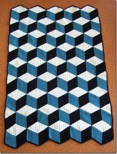 Isometric afghan pattern