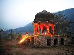 This little ruin outside the Amanbagh hotel, near Jaipur, is a perfect spot for a romantic dinner, which the hotel can arrange for you.  See the complete India itinerary