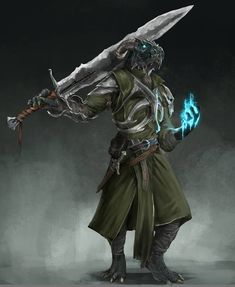 m Dragonborn Fighter Eldritch Knight Greatsword Dagger casting male urban City undercity med Fantasy Character Design, Character Concept, Character Inspiration, Character Art, Dungeons And Dragons Characters, D D Characters, Fantasy Characters, Fantasy Warrior, Fantasy Rpg