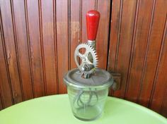 Vintage A and J Beater Jar by peacenluv72 on Etsy, $29.75