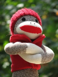 Outdoor Monkey ready for action by sockmonkeyfun, via Flickr
