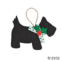 Home Decor, Accents, Holiday Decorations & Accessories - Terry's Village Christmas Tree Themes, Christmas Dog, Christmas Tree Ornaments, Holiday Decorations, Christmas Gifts, Dog Ornaments, Ornament Crafts, Handmade Christmas Crafts, Craft Kits