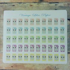 50 Kawaii Cell Phone Planner Stickers: by VintageLilacPaper