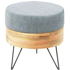 Moe's Home Collection Pouf Round Blue By ($244) ❤ liked on Polyvore featuring home, furniture, ottomans, upholstered storage ottoman, circular ottoman, round ottoman, square storage ottoman and round fabric ottoman