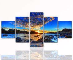 PREZZO SENSAZIONALE! Quadro su tela economico e moderno (Sunset_in_Blue_5teilig-80x160cm) Stampe artistiche incorniate. Occasione, ideale come regalo per parenti e amici. di Sunset_in_Blue_5teilig-80x160cm, http://www.amazon.it/dp/B00C3JR874/ref=cm_sw_r_pi_dp_a3gnsb1XDRERT