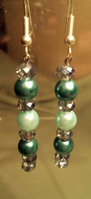 Light and dark Teal Earrings