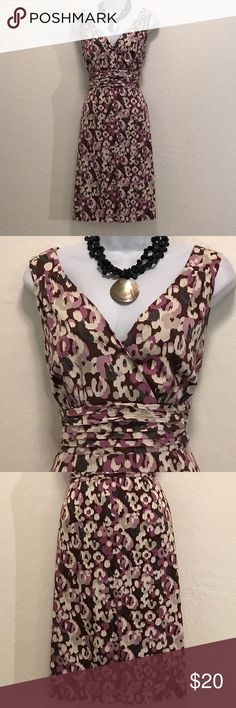 Beautiful Floral Sleeveless Dress Excellent Condition, Accessories not included, Deep V-neck, Cool Print & Colors, A-line, Elastic Back Waist. Dresses