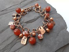 agate copper bracelet