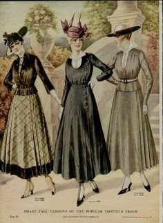 1915 Fashion PG Ad Smart Fall Versions of The Popular Trotteur Frock L K