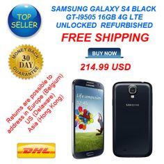 SAMSUNG MOBILE GALAXY S4 BLACK GT-I9505 16GB 4G LTE UNLOCKED / REFURBISHED / FREE SHIPPING / http://www.second-handmobiles.com