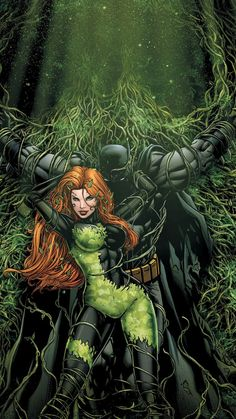 Batman and Poison Ivy Mobile Wallpaper 8970
