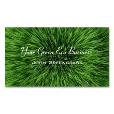 Green Grass Lawn Business Card. Make your own business card with this great design. All you need is to add your info to this template. Click the image to try it out!
