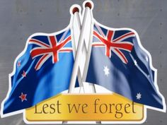 New Zealand and Australian flags. Lest We Forget Anzac, New Zealand Flag, Ww1 Soldiers, Australian Flags, Anzac Day, Kiwiana, All Things New, Australia Day, Remembrance Day