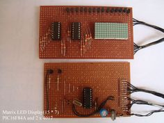 PIC16F84A Matrix Display Pic Microcontroller, Metal Working Tools, Electronic Engineering, Digital Clocks, Electronics Projects, Projects To Try, Bow, Display, Arch