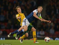 McArthur replaced West Brom midfielder Darren Fletcher (right) who suffered a dead leg