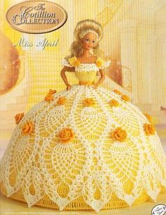 Items similar to Annie's Attic Crochet Bed Doll Pattern April 1992 Cotillion Barbie Doll Dress on Etsy Crochet Doll Dress, Crochet Barbie Clothes, Crochet Doll Pattern, Crochet Patterns, Pattern Dress, Barbie Gowns, Barbie Dress, Barbie Doll, Barbie Patterns