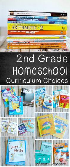Second Grade Homeschool Curriculum Choices 2016-2017 School Year   Calm & Wave