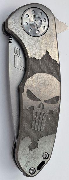 Curtiss Knives F3 Medium Punisher Logo Engraved Custom EDC Folding knife - Everyday Carry - Everyday Carry Gear
