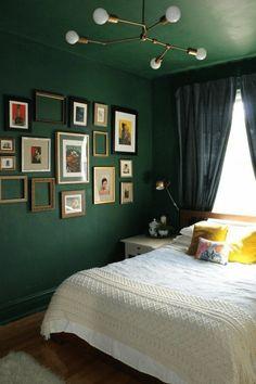 Elegant Schlafzimmer Dekoration Wand Grun Farben