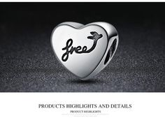 Heart of Freedom Charm Pandora Sale, Heart Ring, Freedom, Charms, Sterling Silver, Detail, Rings, Jewelry, Liberty