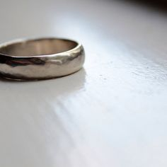 White Gold Wedding Band by tinahdee on Etsy