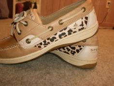 Leopard Sperry shoes! want!