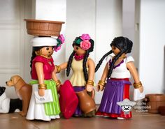 Mother and daughters,  Mexican market Playmobil custom