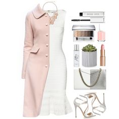 A fashion look from September 2015 featuring Hervé Léger dresses, Dolce&Gabbana coats and Jimmy Choo sandals. Browse and shop related looks.