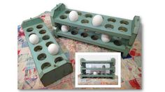 Reclaimed Wood Egg Holder Stackable Tray by AlleyCatDesignSt