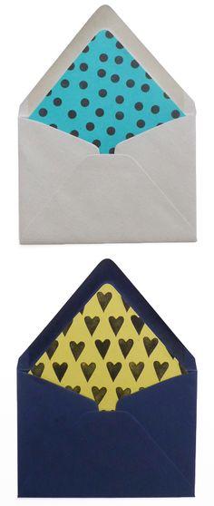 DIY envelope liners - Cotton & Flax