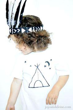 DIY Painted T-shirt TUTORIAL: This is ADORABLE! jojoandeloise.com