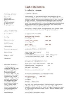 Writing a cv for academic positions students