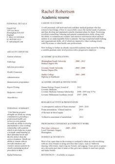 academic cv template curriculum vitae academic cvs student application jobs - Resume For Graduate School Template