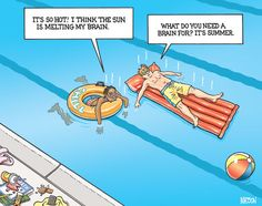 summer+vacation | Cartoon by R.J. Matson
