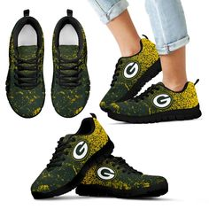 35b7f1b2560 Light Tiny Pixel Smashing Pieces Green Bay Packers Sneakers – Best Funny  Store Green Bay Packers