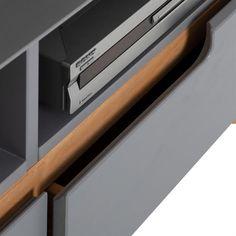 Lowboard TIBOR Kiefer massiv in grau Kiefer, Montage, Office Supplies, Nordic Style, Tv Cupboard, Tv Units, Scandinavian Design, Customer Support, Grey