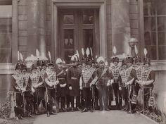 1897, King Edward VII with officers of the Queen's own Oxfordshire Hussars by Hills & Saunders. National Portrait Gallery, UK.