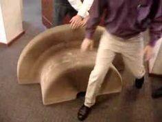 """flexable love"" folding chair."