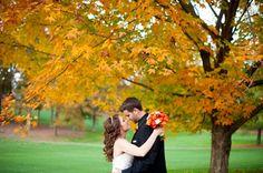 Herfst bruiloft fotoshoot