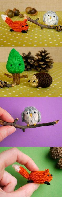 Knit woodland friends