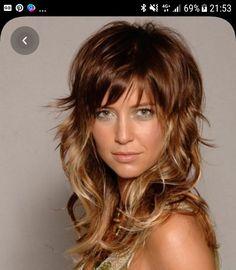 Medium Layered Hair, Medium Hair Cuts, Medium Hair Styles, Curly Hair Styles, Haircuts For Thin Fine Hair, Hairstyles With Bangs, Brown Blonde Hair, Hair Affair, Hair Images